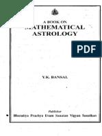 A Book on Mathematical Astrology - Bansal