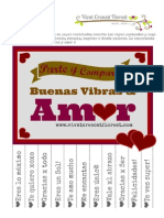VCF Poster Recortable Buenas Vibras y Amor