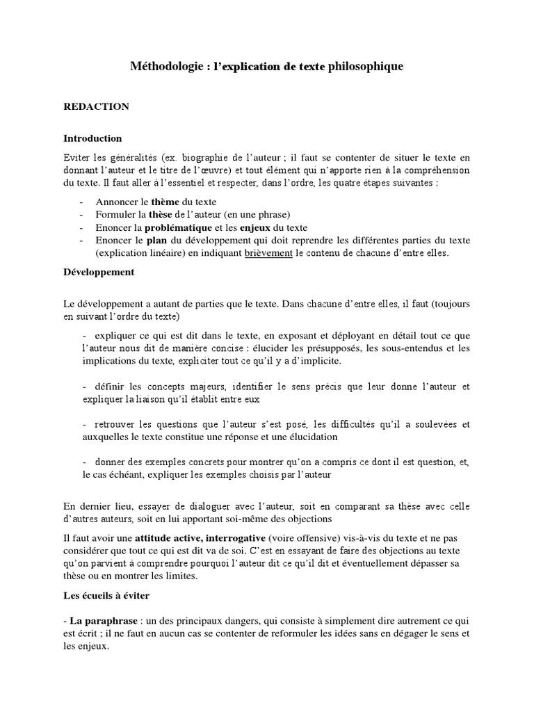Méthodologie De Lexplication De Texte 2 Question