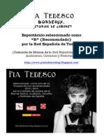 PIA TEDESCO Bordeaux Dossier y Prensa Pia Tedesco WEB