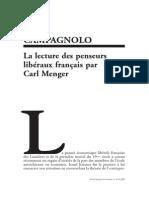 Campagnolo Gilles -La lecture des penseurs libéraux français par Carl Menger article (Revue française d'économie - 2008).pdf