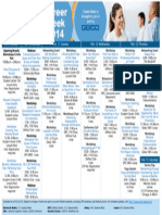 2014 Career Week Schedule at a Glance