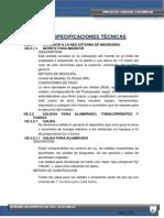 ESPECIFICAICONES TECNICAS
