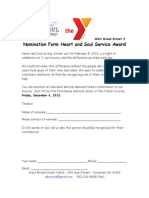 Heart and Soul Service Award Nomination Form