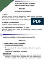 Estructura Del Plan de Tesis - Villarreal