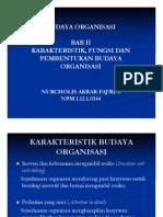 Budaya Organisasi Bab II