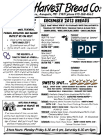 Great Harvest December Menu 2013