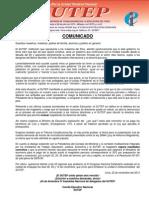 Comunicado SUTEP