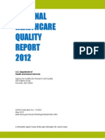 2012 National Healthcare Quality Report NHQR 12