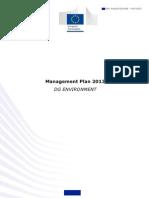 Management Plan 2013 propusa de DG MEDIU