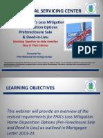 FHA HUD Preforeclosure Short Sale 2013 Guidelines