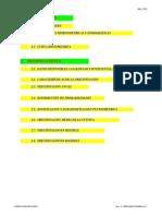 Planillas para proyecto de Recursos Hidricos