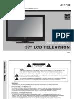 Apex TV JE3708 Manual