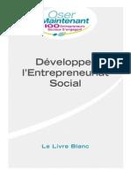 Développer l'Entrepreneuriat Social - Le Livre Blanc
