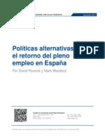 Políticas alternativas para el retorno del pleno empleo en España