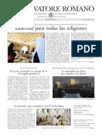 L´OSSERVATORE ROMANO - 22 Noviembre 2013