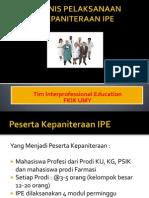 Teknis Pelaksanaan IIPE Alur Dan Jadwal- STASE IPE