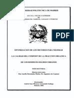 Agricultura Ecologica - Tesis - Optimización de los métodos para mejorar la calidad del compost