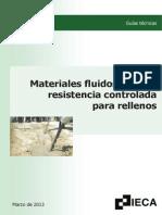 Materiales Fluidos de Baja Resistencia Para Rellenos