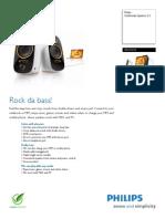 Philips Multimedia Speakers 2.0 SPA7210-17 Leaflet