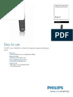 Philips Remote SRP1003-27 Leaflet
