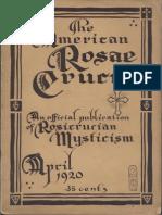 AMORC - The American Rosae Crucis, April 1920