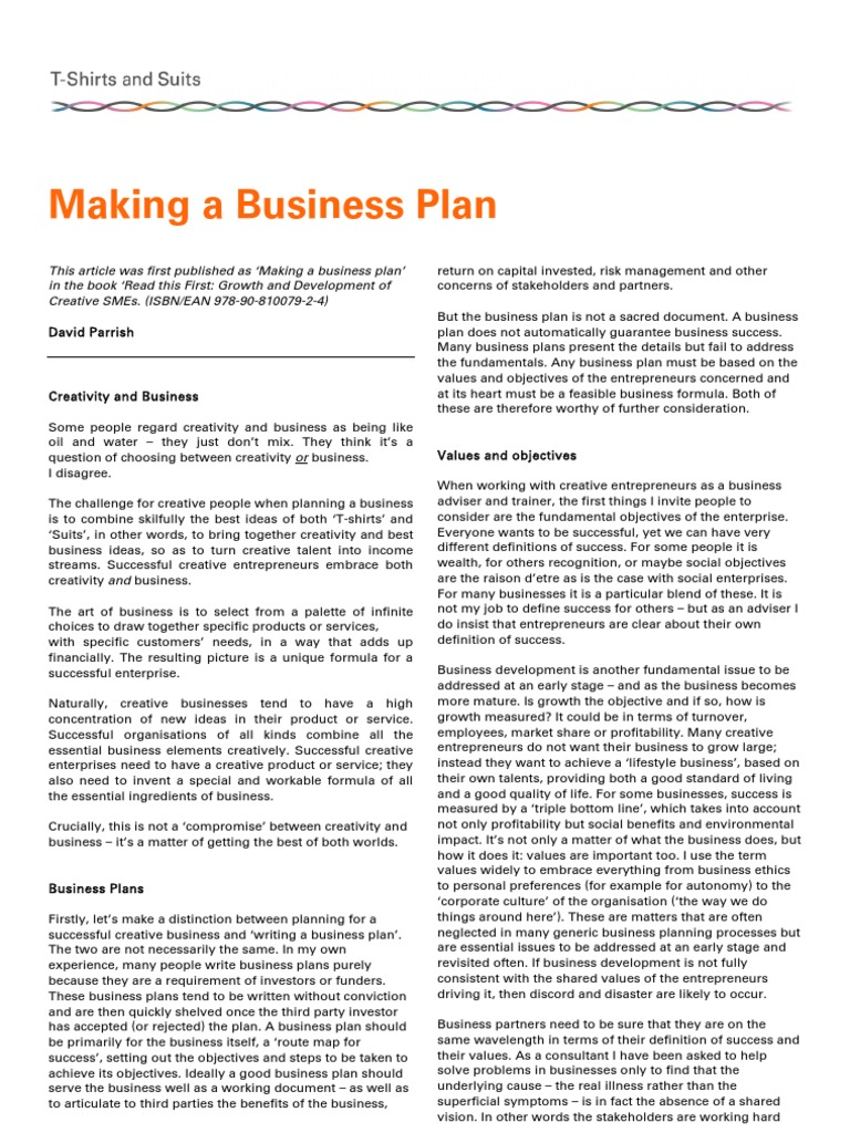 Making A Business Plan David Parrish Tshirts And Suits   Making A Business Plan David Parrish Tshirts And Suits    Creativity  Business Plan