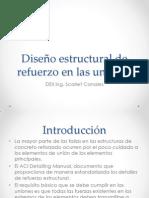 Diseño estructural de refuerzo en las uniones