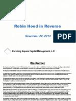 Pershing Square Capital - Robin Hood In Reverse