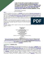 Hot. 635_2011 Modif Anexa HG1105_2007 Norme Aplicare Reguli (Anexa VI MARPOL)
