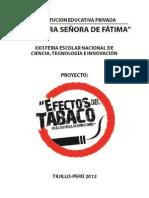 Proyecto Efectos Del Tabaco en El Sistema Respiratorio
