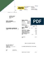 The Hertz Corporation Factura