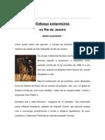 Textos IL - Colaboradores - Cena Carioca - MG - Odioso extermínio