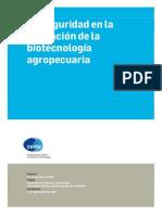 CECTE - Bioseguridad en la aplicación de la biotecnología agropecuaria