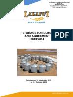 Storage Handling Agreement 2013-2014