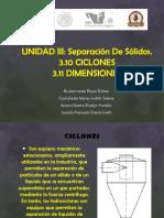 Unidad III Ciclones