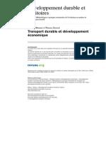 Developpementdurable 3305 Transport Durable Et Developpement Economique