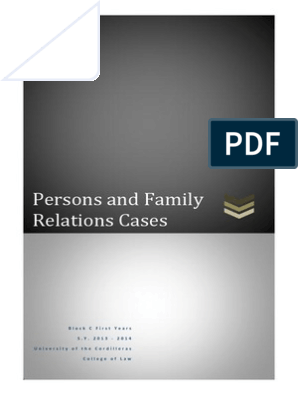 Persons and Family Relations Cases
