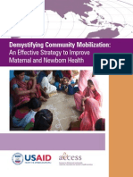 Demistifying Community Mobilisation - A Strategy to Improving Maternal and Newborn Health
