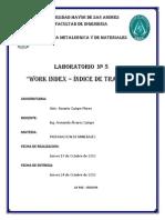 Informe 5- Indice de Trabajo