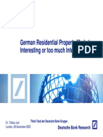 German Residential Property Markets