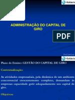 1 - SLIDES - GESTÃO DO CAPITAL DE GIRO - ATÉ 11 10 2013