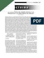 Carbonell, El nuevo papel Poder Judicial en la Transición democrática en México
