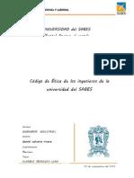 Codigo de Etica de Los Ingenieros de La Universidad Del Sabes