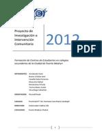 Proyecto de Investigación e Intervención Comunitaria