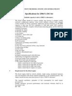 Spcification Fo DG Set(1)