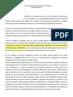 Reporte El desacuerdo- Política y filosofía, Jacques Rancière