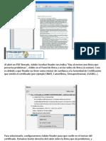 Adobe Reader - Gestion de Certificados de Confianza