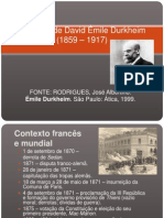 Biografia de David Émile Durkheim (1859 –