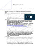General PTA Mtg Minutes 2013